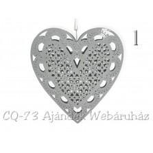 Srdce plechové sivé 3 druhy / 419206