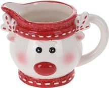 Džbánik na mlieko sob s červeným nosom