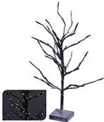 Strom svietiaci čierny zasnežený 72 x LED žlté svetlo