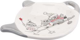 Podložka pod čajový sáčok biela sovičky
