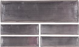 Podnos hlinníkový tmavošedý obdĺžnikový
