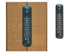 Teplomer nástenný kovový antracitový / 6080059