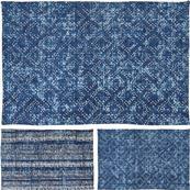 Koberec modrý vzor, veľký / CR 630530