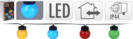 Párty svetlo - 20 x farebná žiarovka