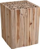 Taburet štvorcový z dreva