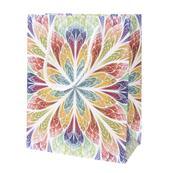 Darčeková taška, vzorovaný farebný kvet stredná