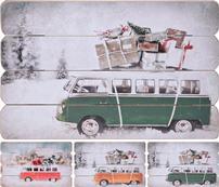 Obraz drevený, motív autobus