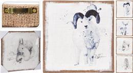 Obraz, zimné zvieratá, modré / CR 203654