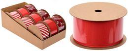 Stuha červená,vianočná / CR 213427