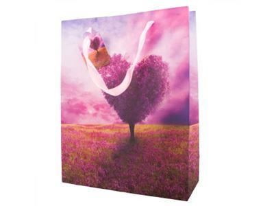 Darčeková taška strom - koruna v tvare srdca